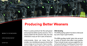 Producing Better Weaners