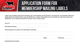 Label Request Form