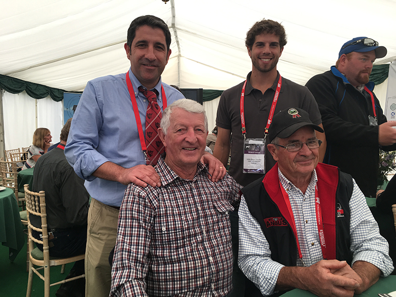Paulo Costa & Joao Diogo Ferreira from Portugal, with Willie Milne & Des Grylls