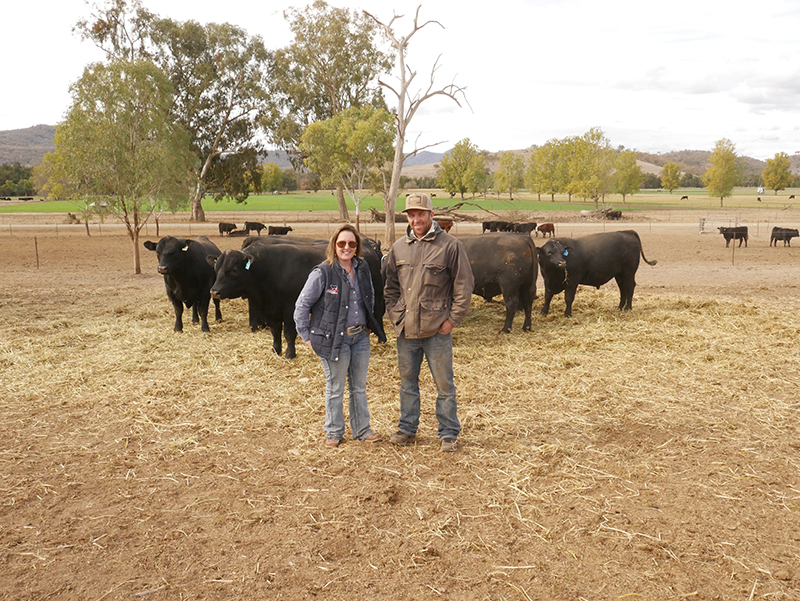 XL Beef - Nathan Steinbeck with Angus Australia's Candice Liddle