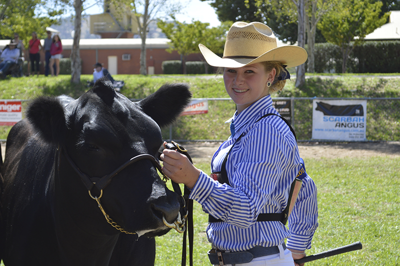 Ruby Canning pictured at the 2015 Angus Youth National Roundup in Wodonga VIC