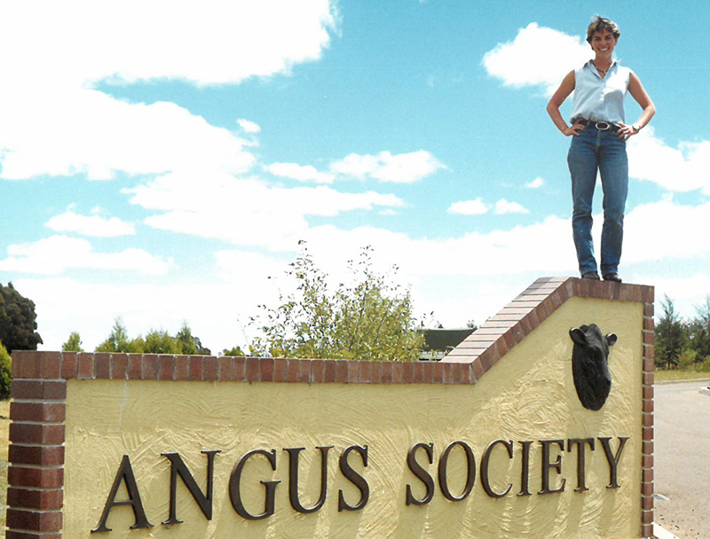 Erica Halliday during her time as the Angus Youth Coordinator