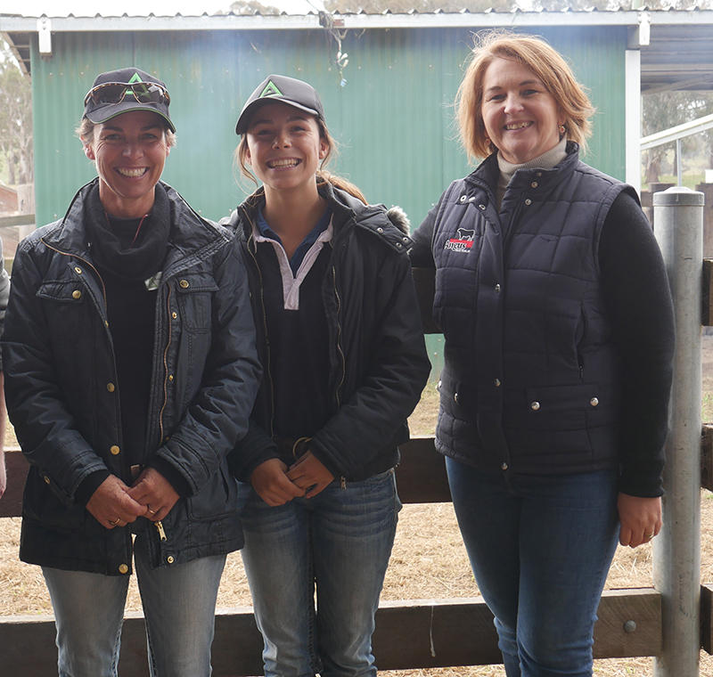 Erica and Maggie Halliday, with Angus Australia's Marketing Assistant, Robyn Brazier during the 2017 The Land Northern Beef Week
