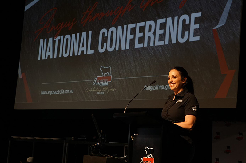 Jess Pryles presenting 'The use of Angus beef in the competitive & growing world of BBQ'