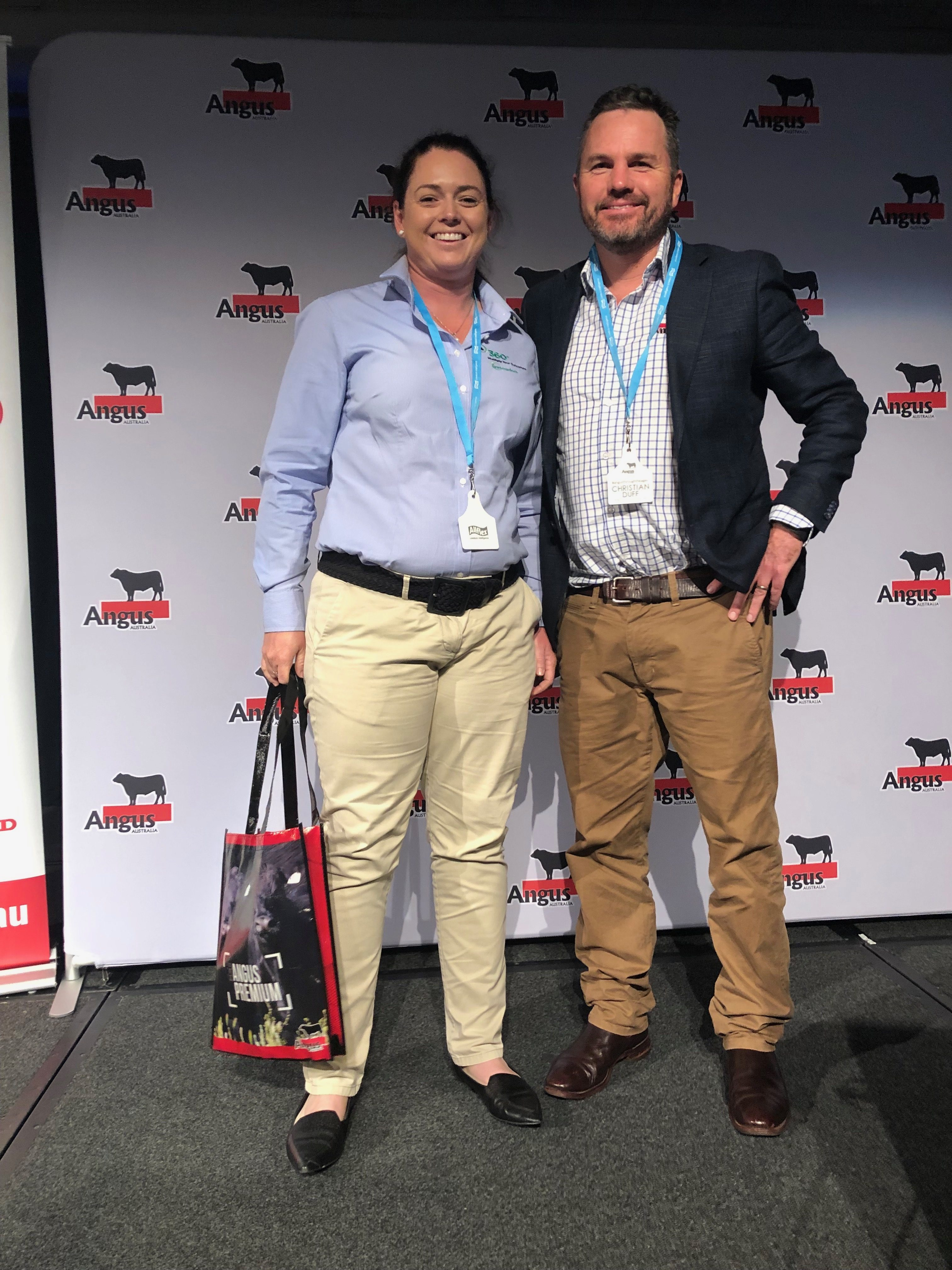 Christian Duff, Angus Australia Strategic Projects Manager with Dr Sophia Edwards, Vetoquinol